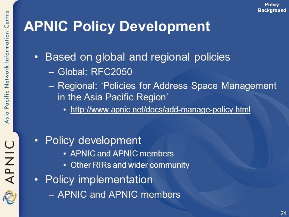 APNIC Policy Development