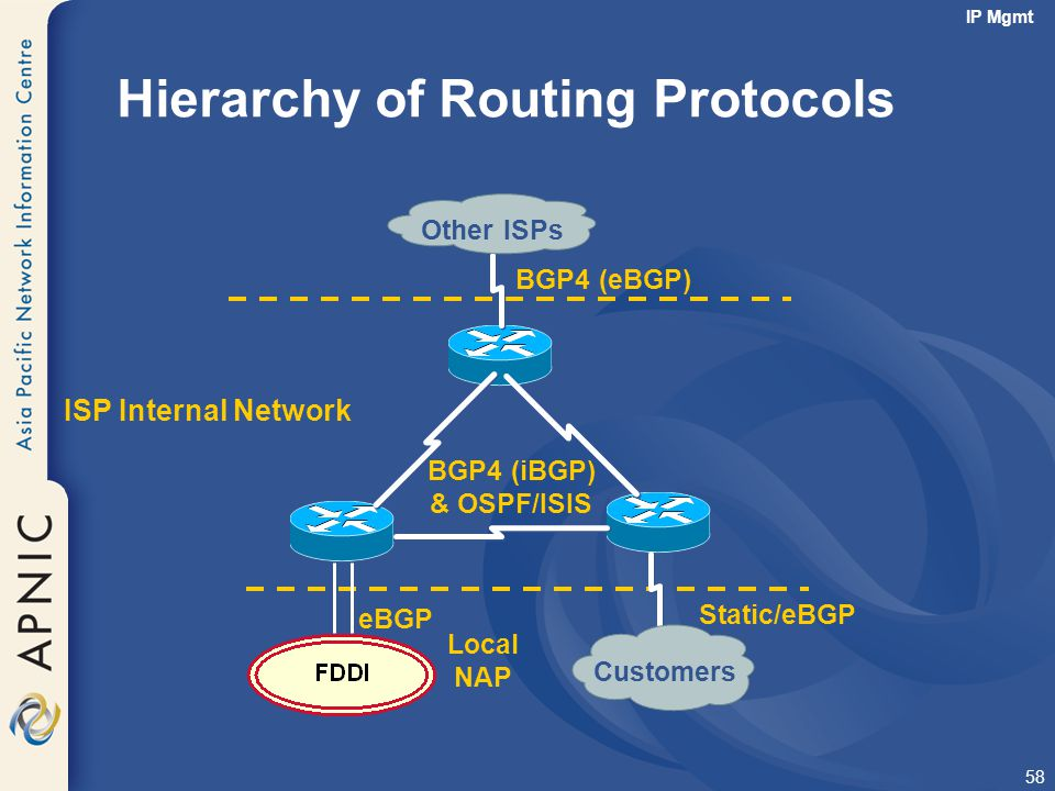 Hierarchy of Routing Protocols
