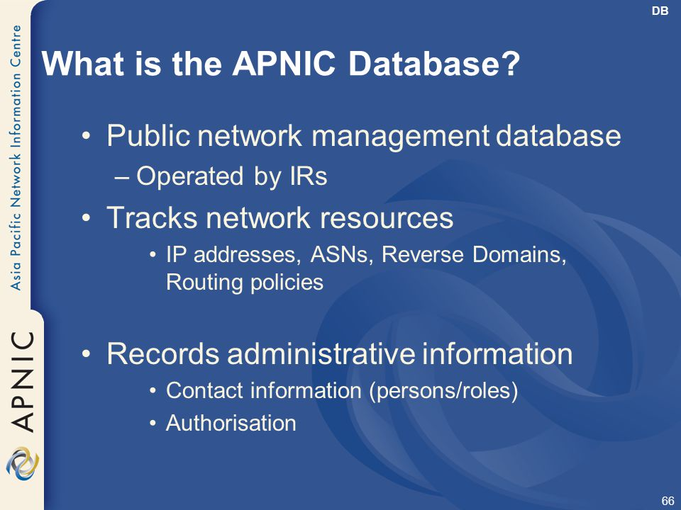 What is the APNIC Database
