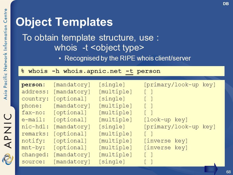 To obtain template structure, use :