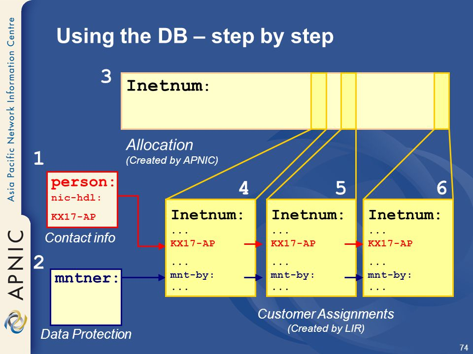 Using the DB – step by step