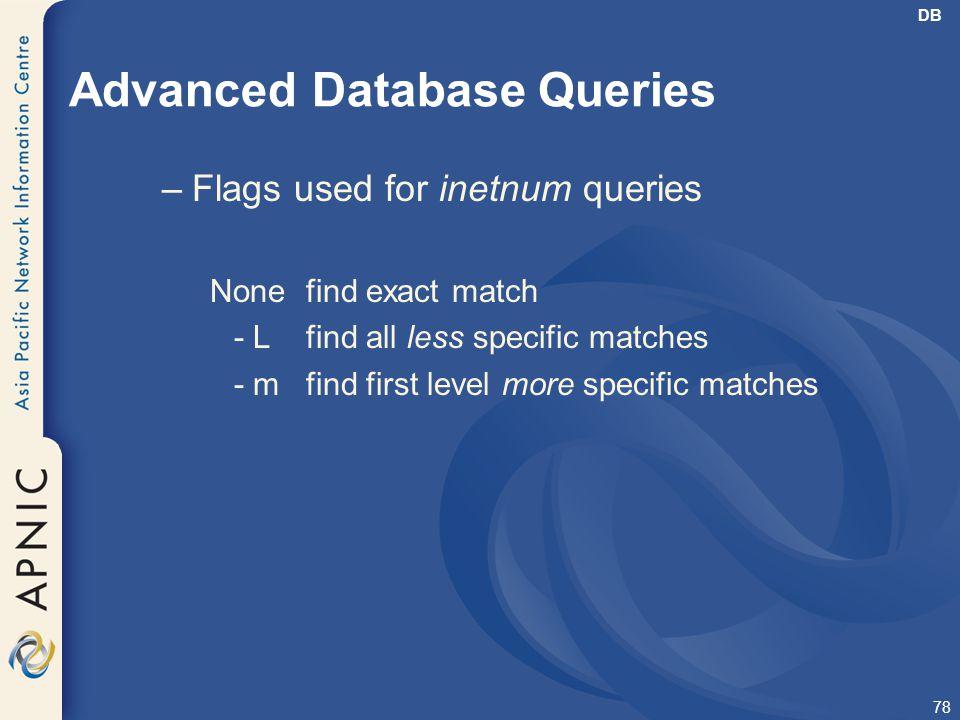 Advanced Database Queries