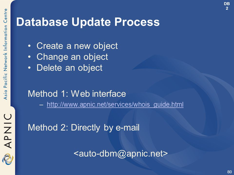Database Update Process