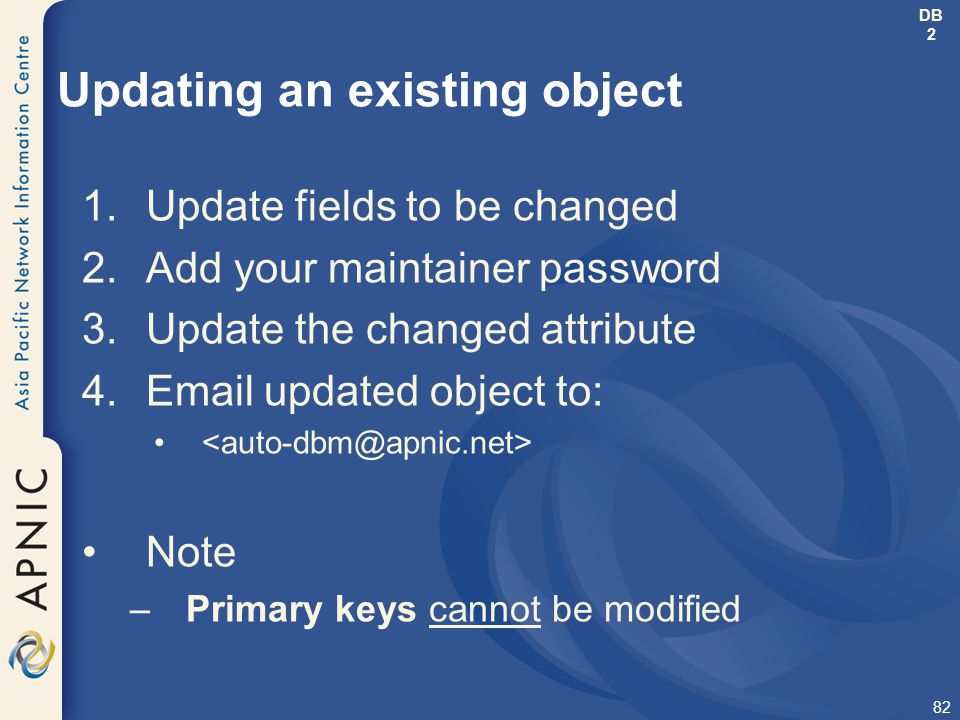 Updating an existing object