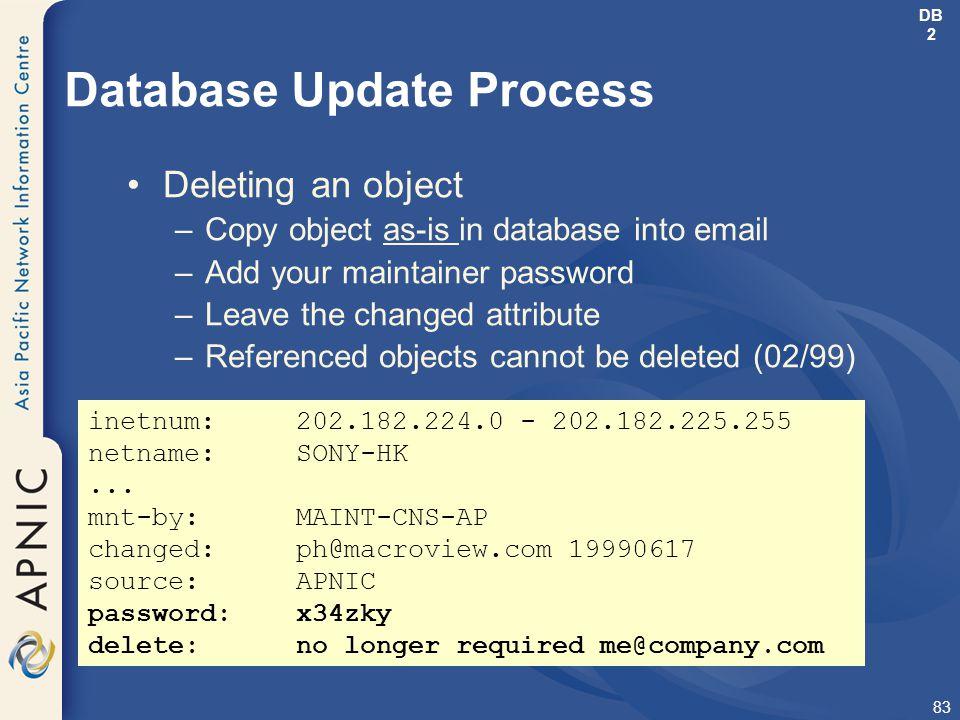 Database Update Process
