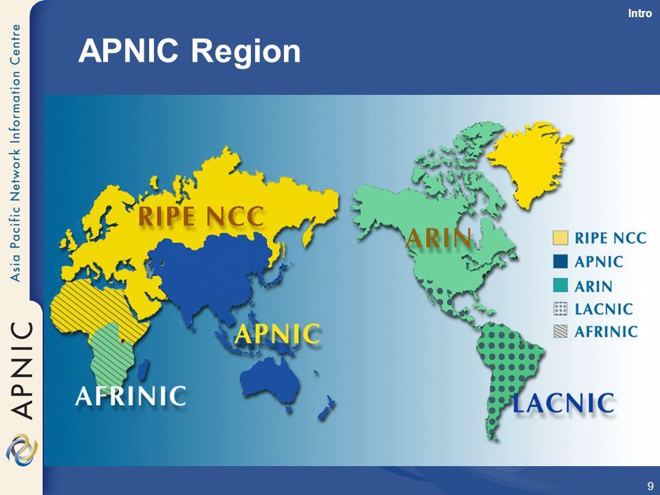 Intro APNIC Region