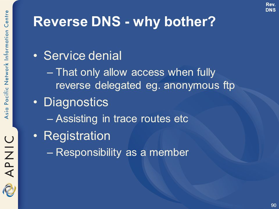 Reverse DNS - why bother