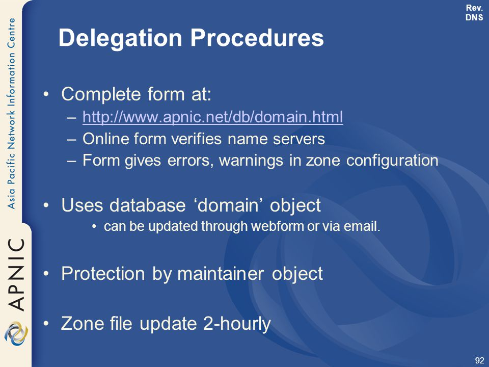 Delegation Procedures