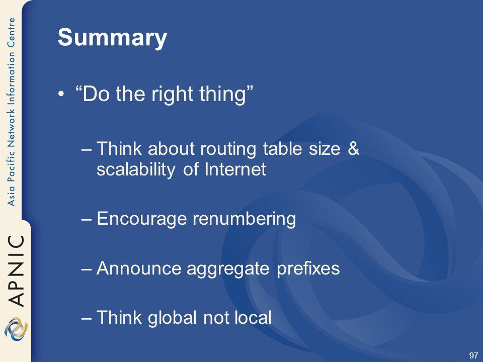 Summary Do the right thing