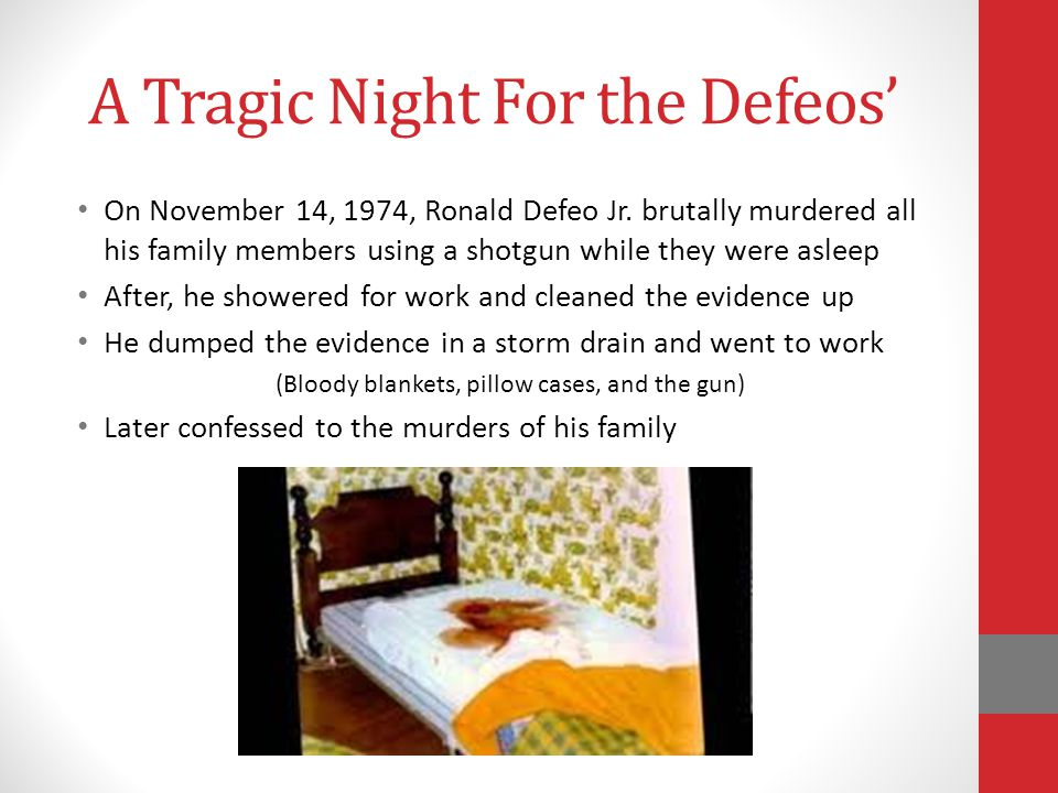 A Tragic Night For the Defeos'