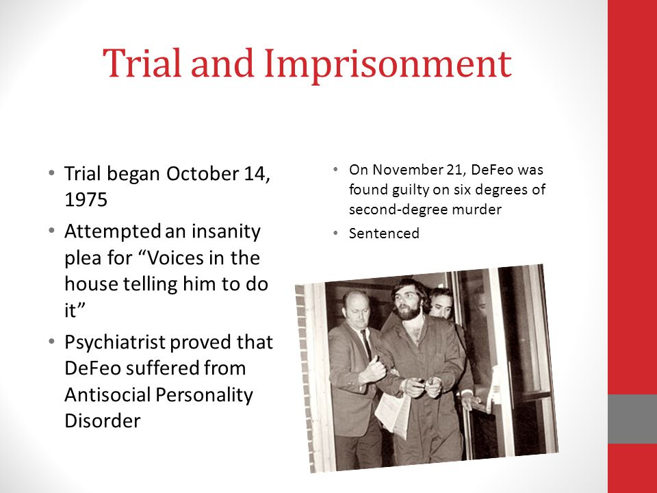 Trial and Imprisonment