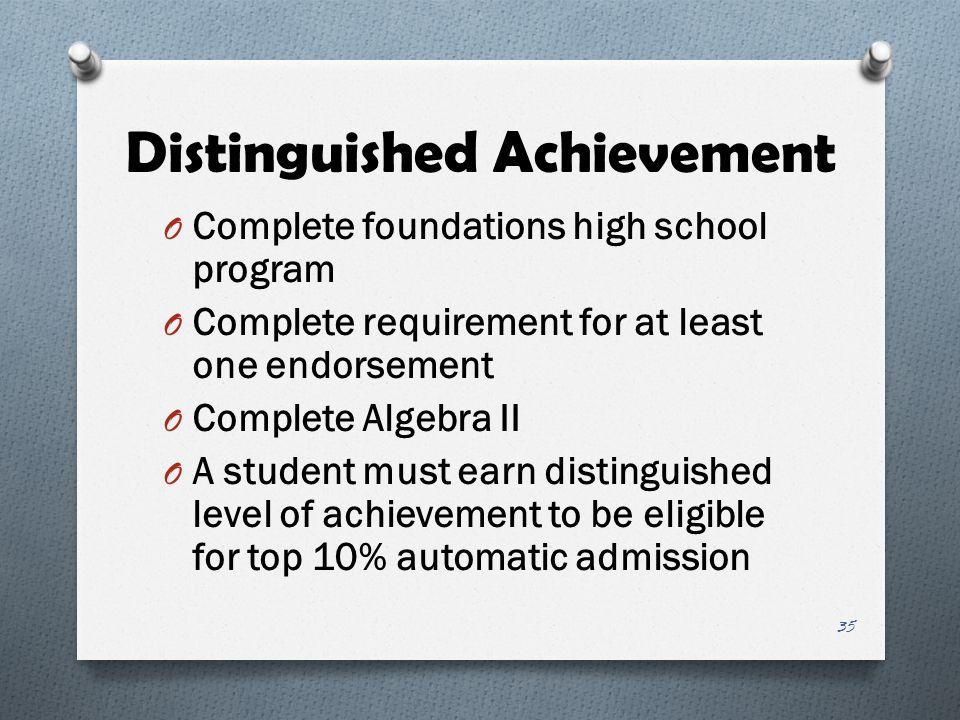 Distinguished Achievement