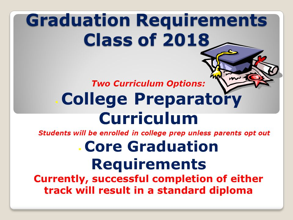 Graduation Requirements Class of 2018