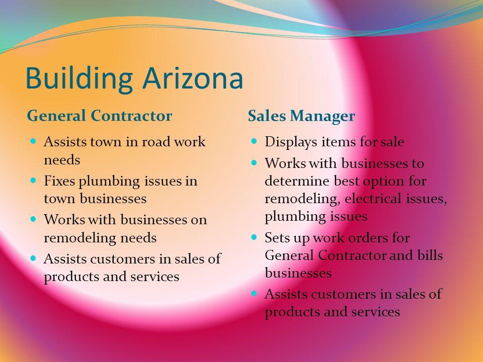 Building Arizona General Contractor Sales Manager