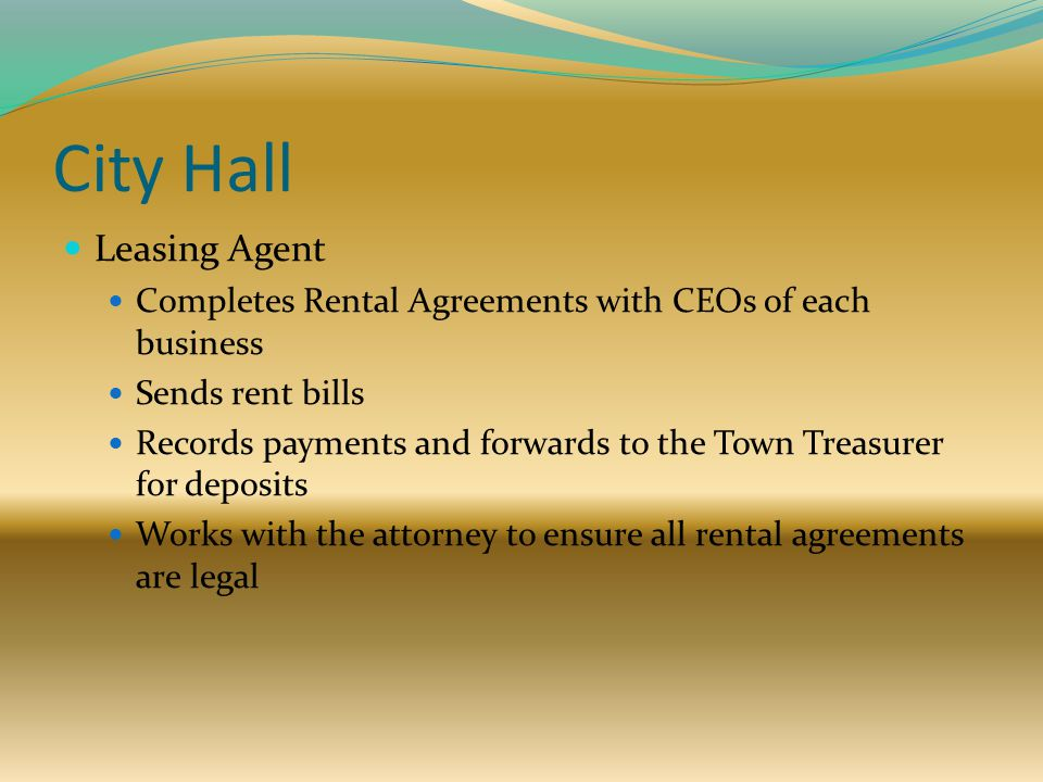 City Hall Leasing Agent