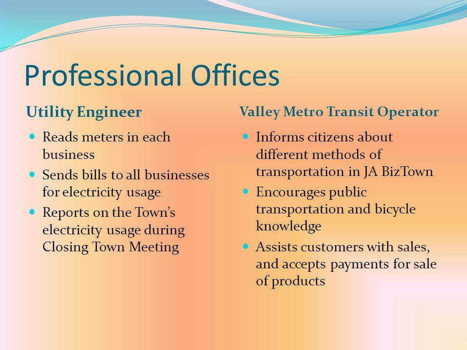 Professional Offices Utility Engineer Valley Metro Transit Operator