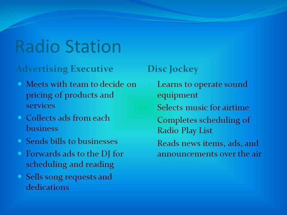 Radio Station Advertising Executive Disc Jockey