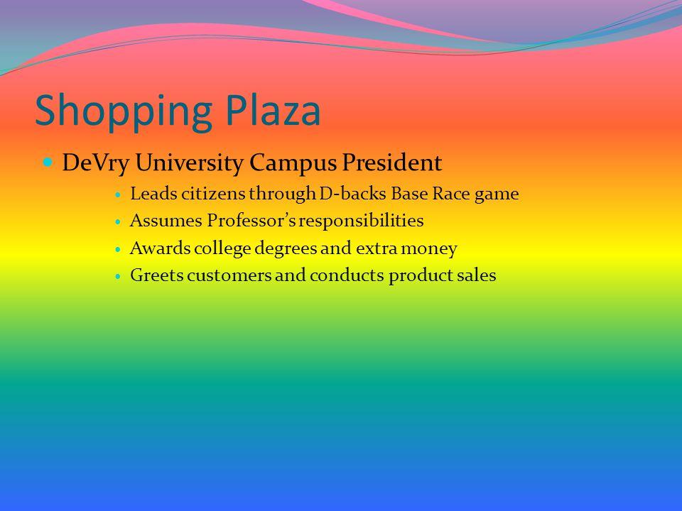 Shopping Plaza DeVry University Campus President