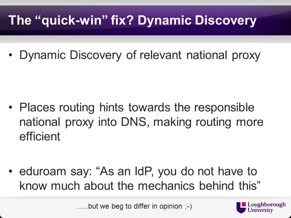 The quick-win fix Dynamic Discovery