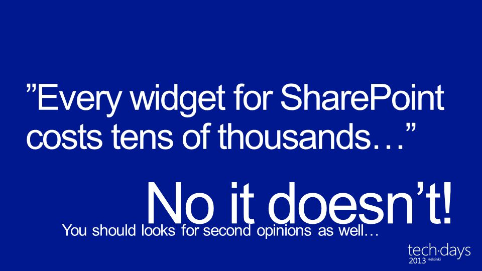 Every widget for SharePoint costs tens of thousands…