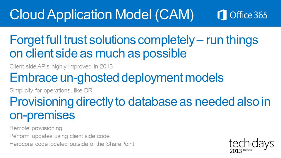 Cloud Application Model (CAM)