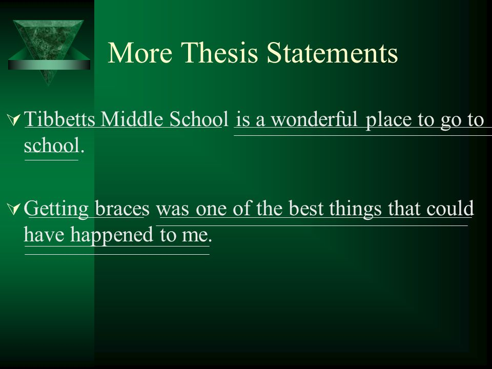 More Thesis Statements