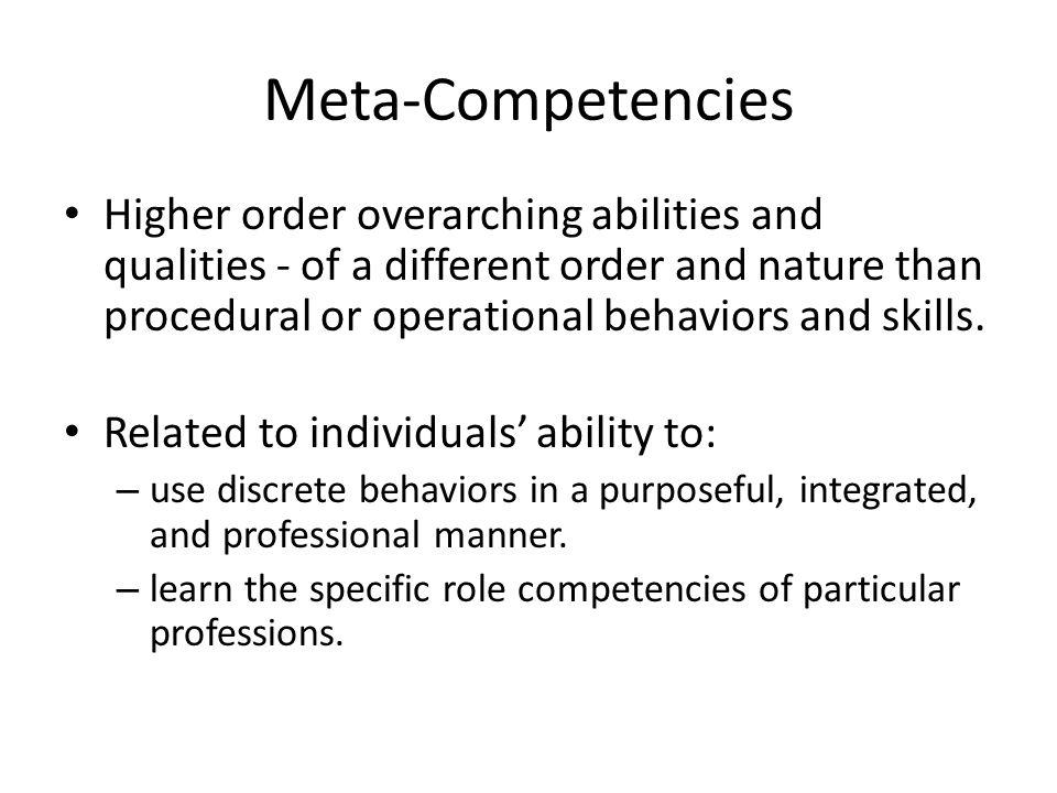 Meta-Competencies
