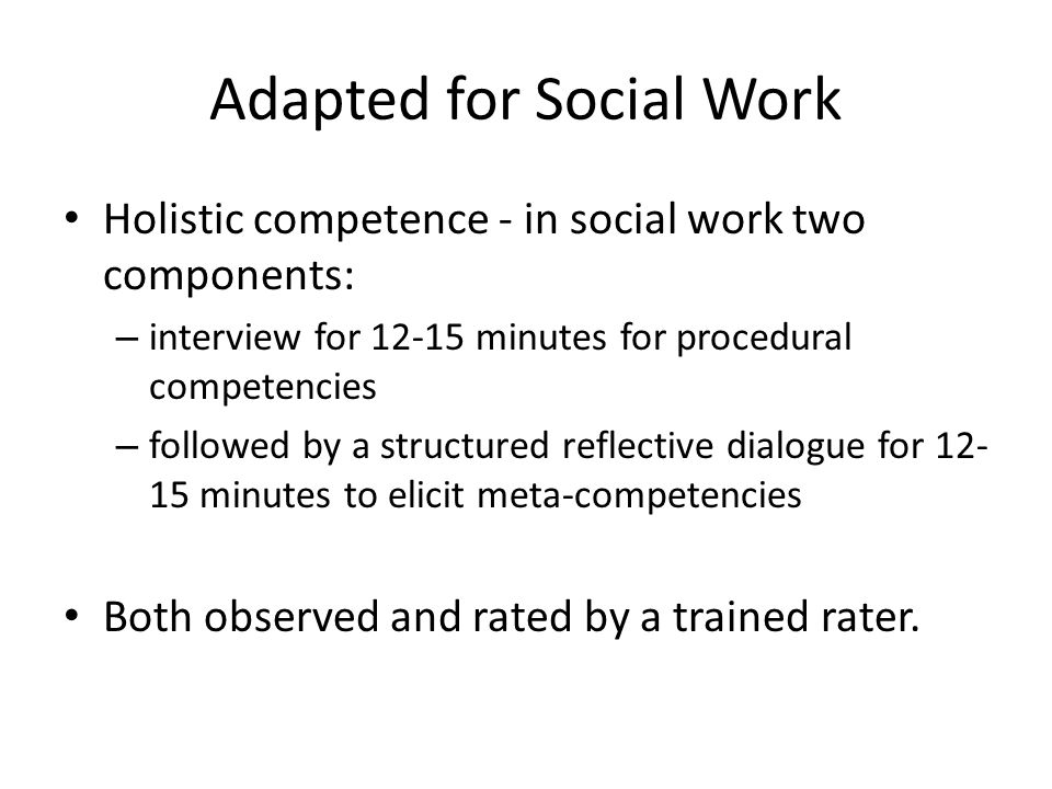 Adapted for Social Work