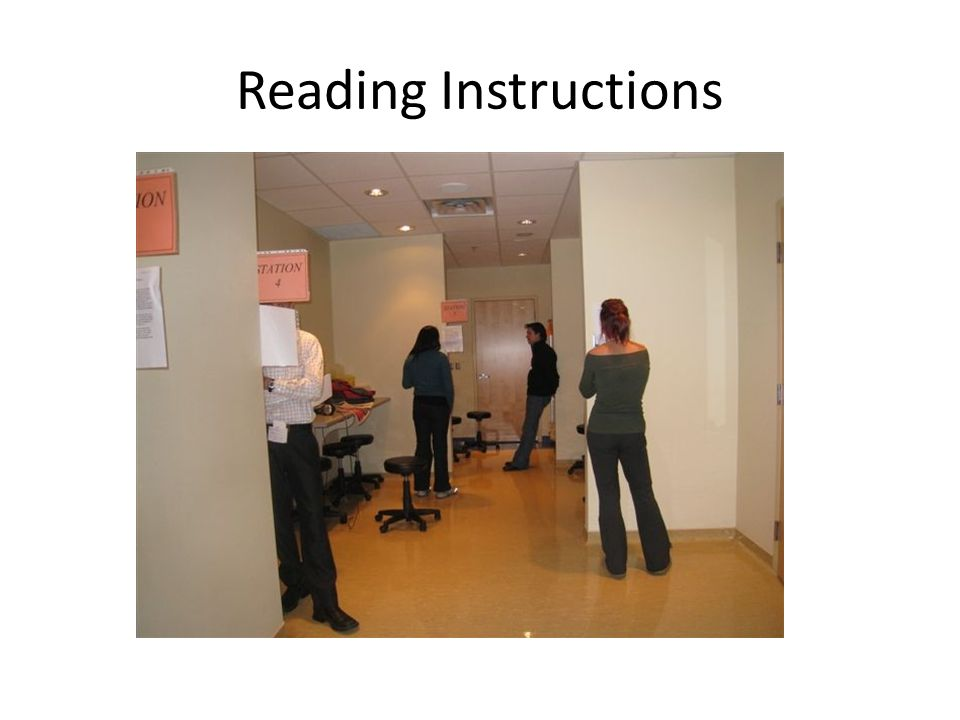 Reading Instructions