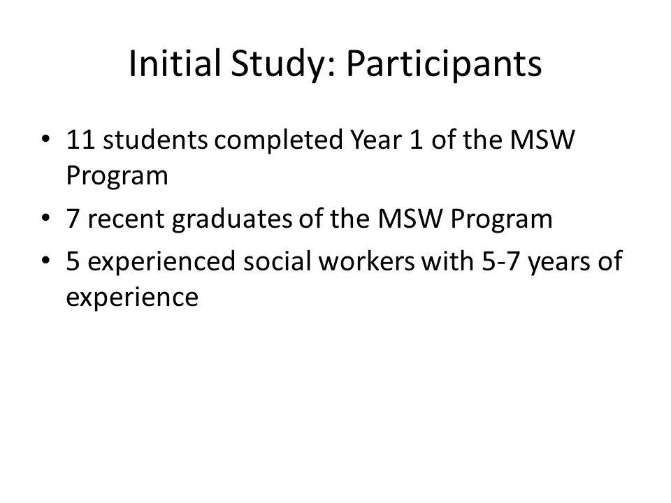 Initial Study: Participants