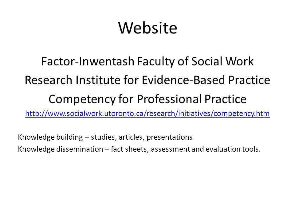 Website Factor-Inwentash Faculty of Social Work