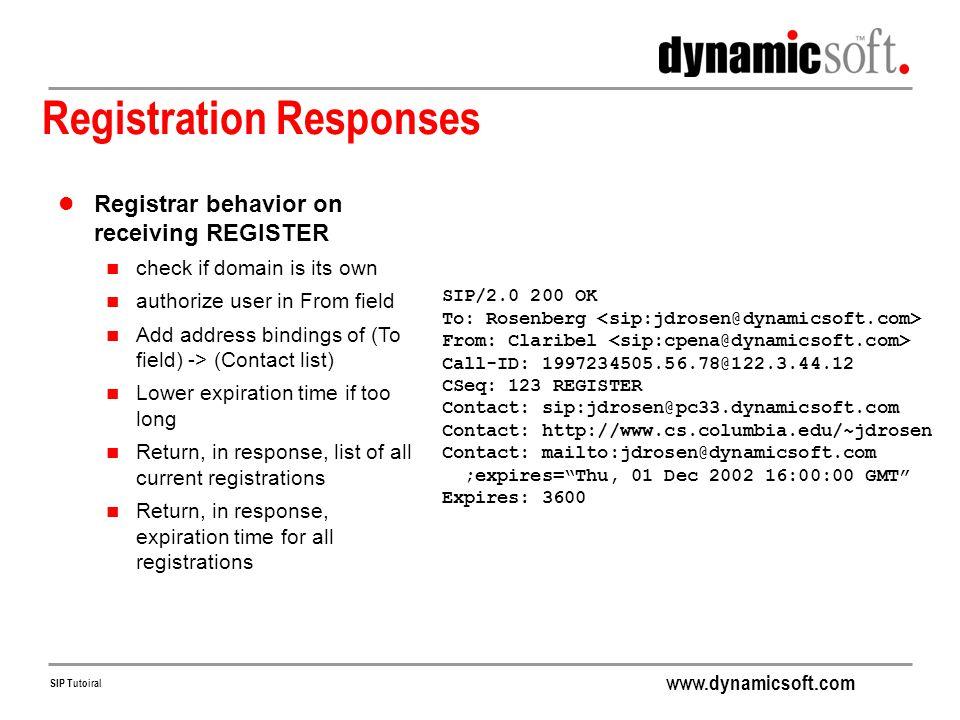 Registration Responses