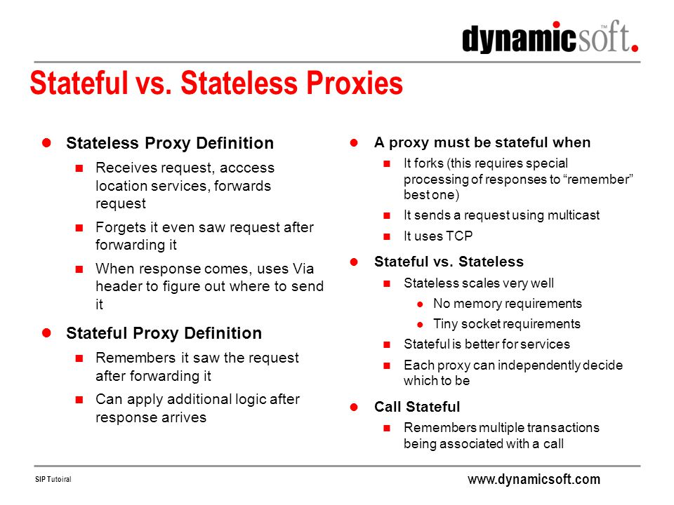 Stateful vs. Stateless Proxies
