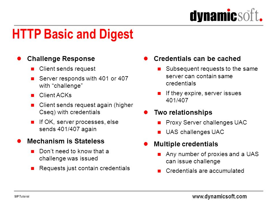 HTTP Basic and Digest Challenge Response Mechanism is Stateless