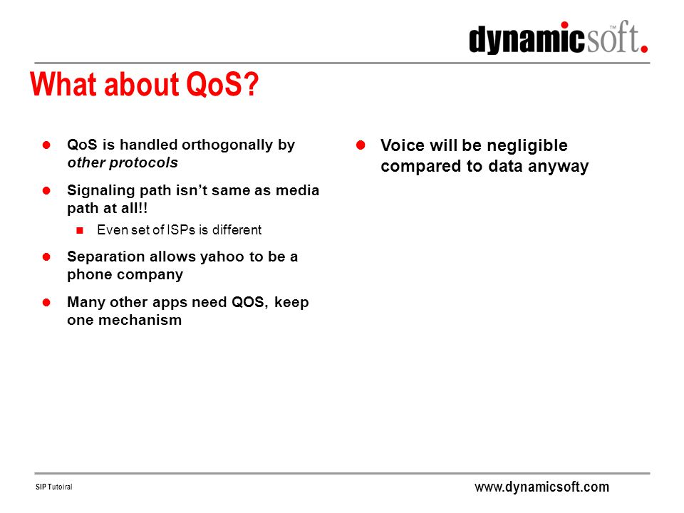 What about QoS Voice will be negligible compared to data anyway