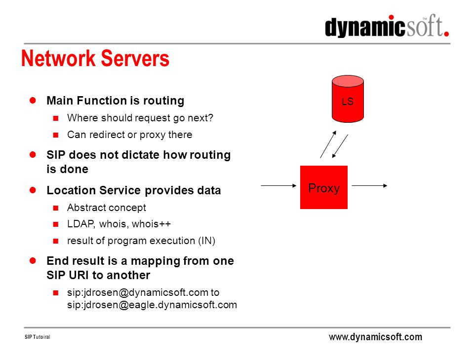 Network Servers Proxy Main Function is routing