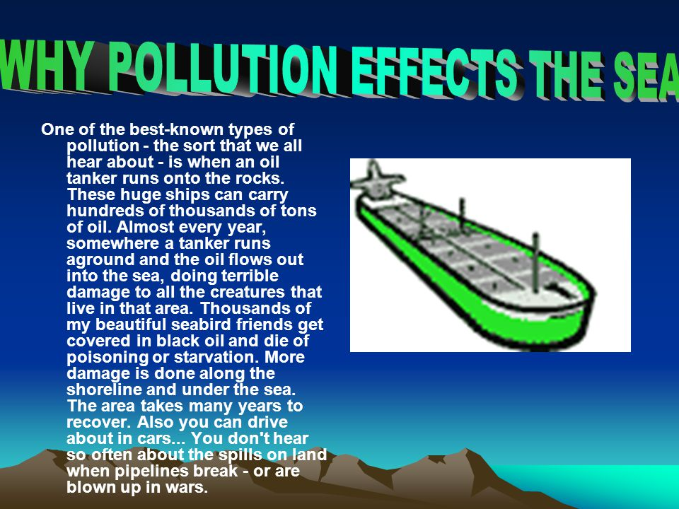 WHY POLLUTION EFFECTS THE SEA