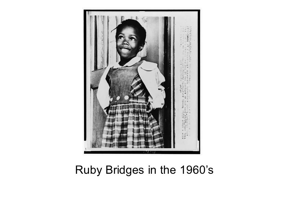 Ruby Bridges in the 1960's