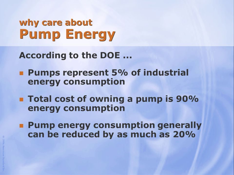 why care about Pump Energy