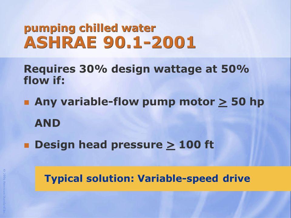 pumping chilled water ASHRAE 90.1-2001