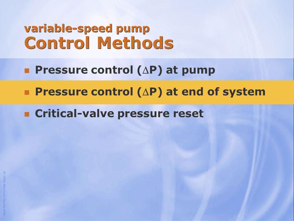 variable-speed pump Control Methods