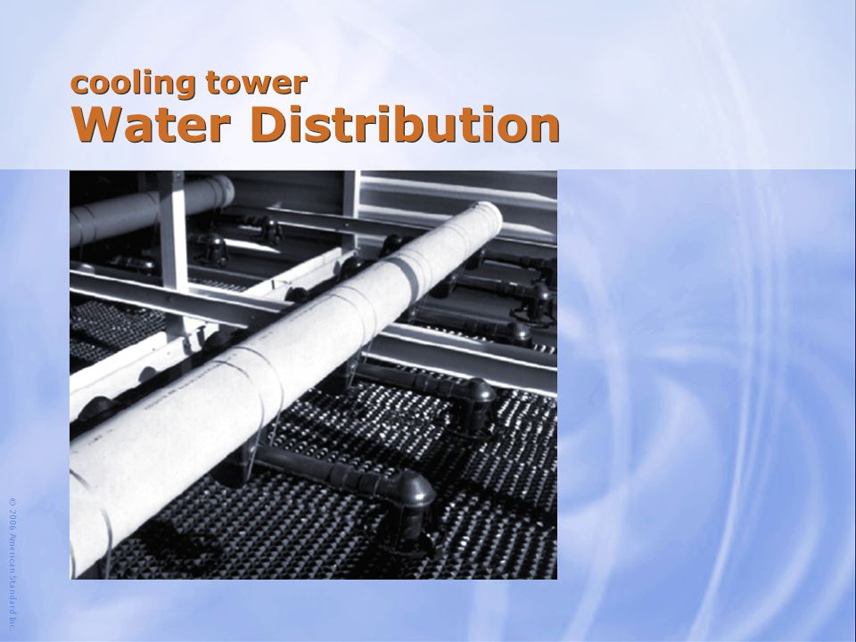 cooling tower Water Distribution