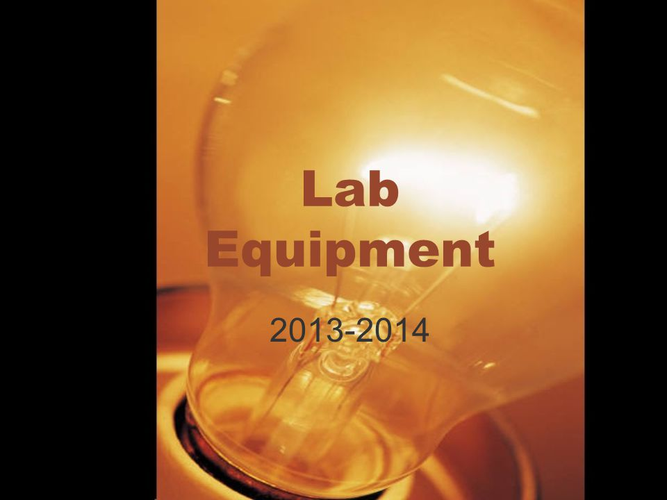 Lab Equipment 2013-2014