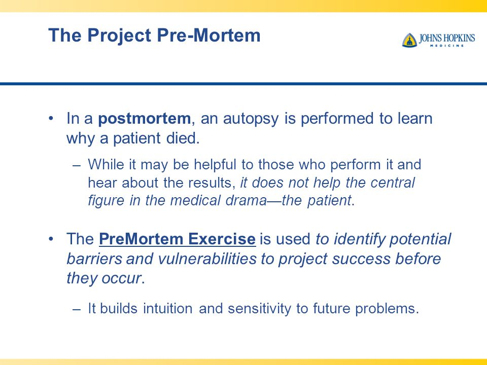 The Project Pre-Mortem