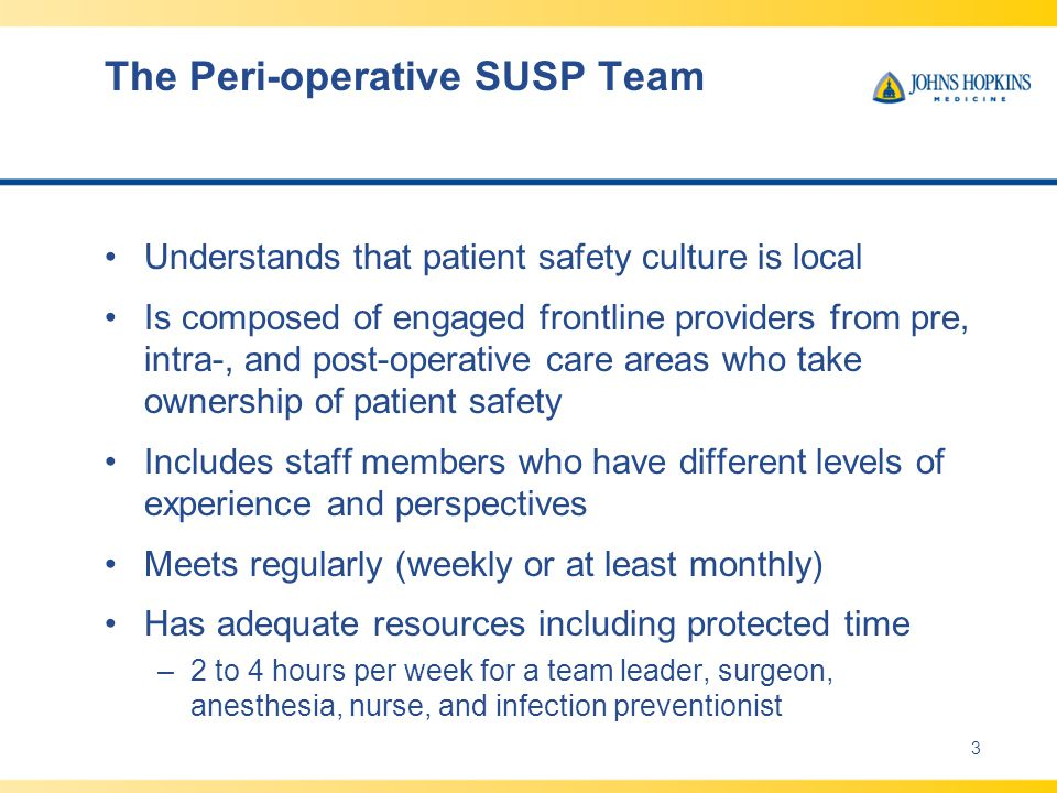The Peri-operative SUSP Team