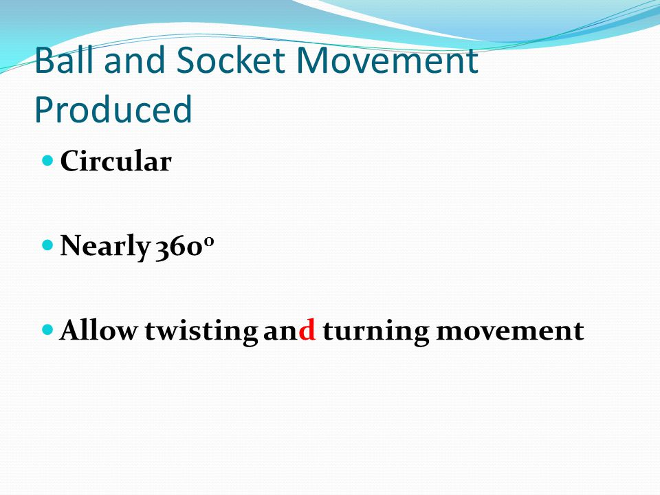 Ball and Socket Movement Produced