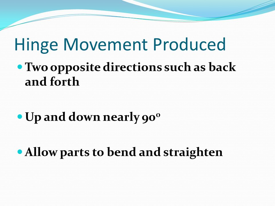 Hinge Movement Produced