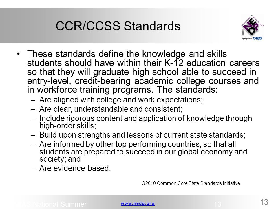 CCR/CCSS Standards