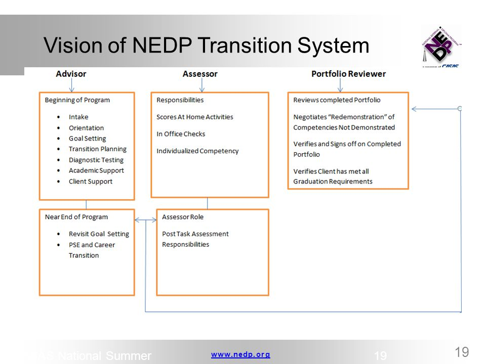 Vision of NEDP Transition System