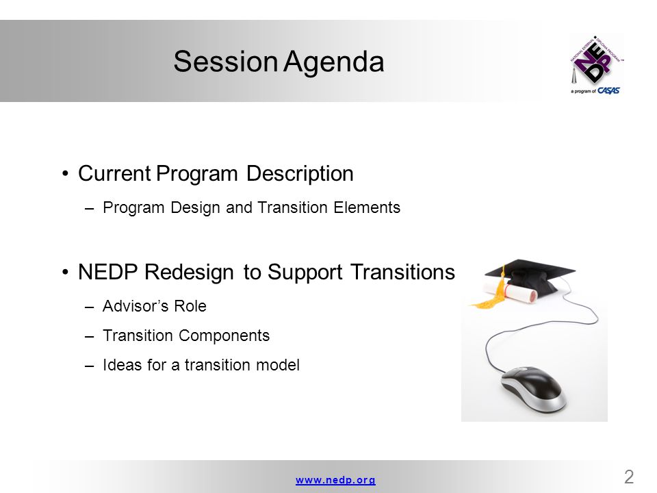Session Agenda Current Program Description